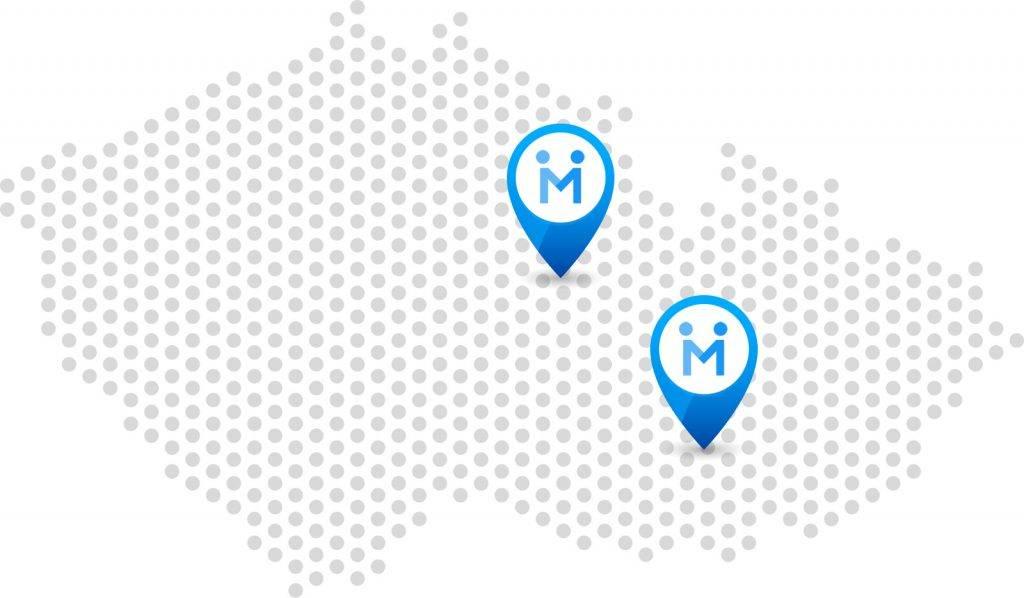 Mapa - pobočky Chrudim a Brno | Netpromotion