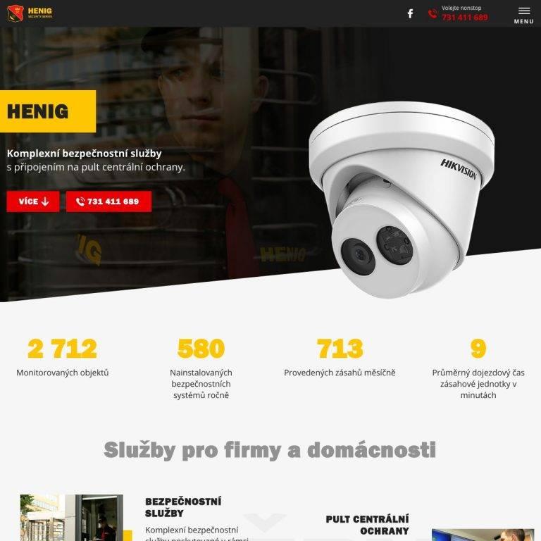 Tvorba webu Exclusive pro HENIG - security servis, s.r.o. - Česká Lípa | Netpromotion