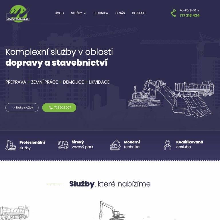 Tvorba webu Exclusive pro MV Přeprava s.r.o. - Praha 9 | Netpromotion