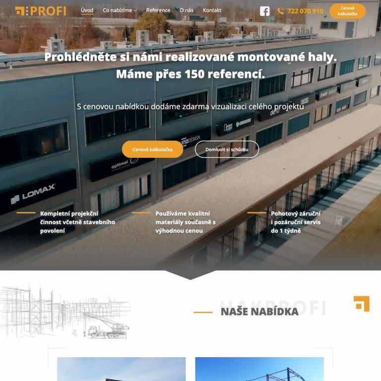 Tvorba webu Exclusive pro HAK Profi s.r.o. - Brno | Netpromotion