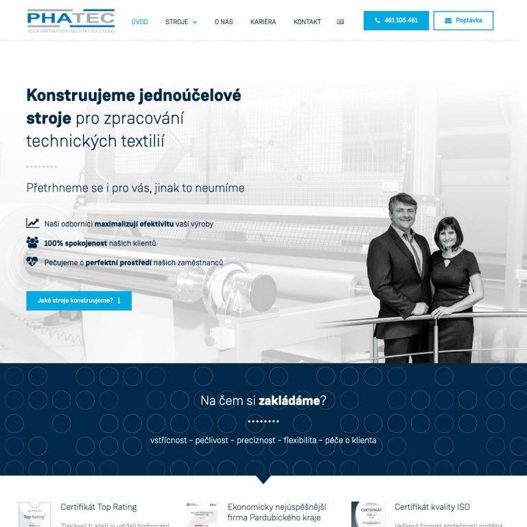 Tvorba webu Premium pro Phatec s.r.o. - Litomyšl | Netpromotion
