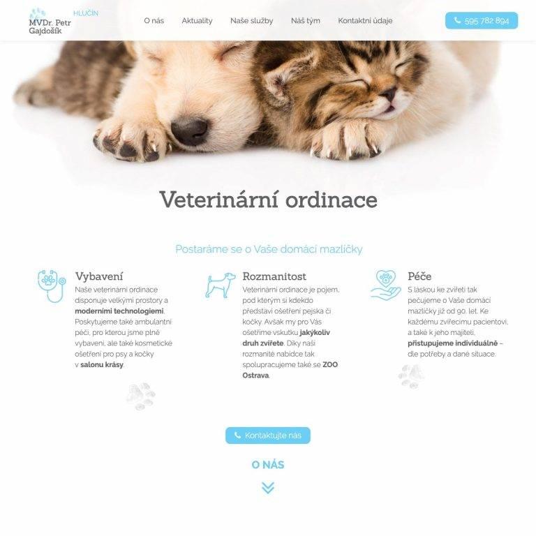 Tvorba webu Premium pro MVDr. Petr Gajdošík - Litomyšl | Netpromotion