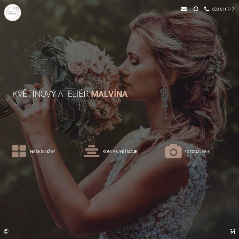 Tvorba webu Smart pro Květiny Malvína - Mělník | Netpromotion
