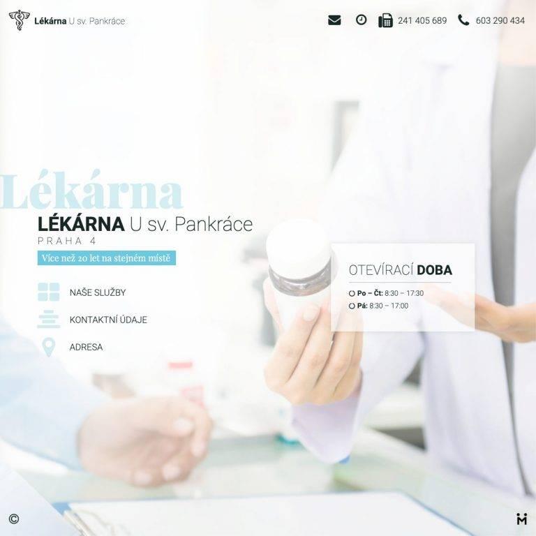 Tvorba webu Smart pro Lékárna U sv. Pankráce - Praha 4 | Netpromotion